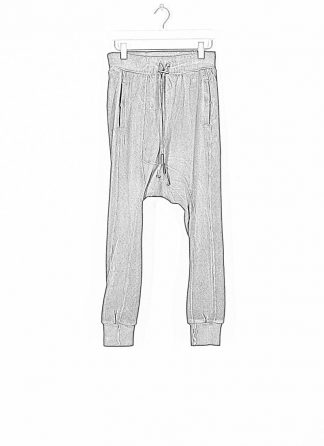 BORIS BIDJAN SABERI ss20 men pants jogger LONGJOHN2 herren hose F0406C cotton ly dark grey hide m 1
