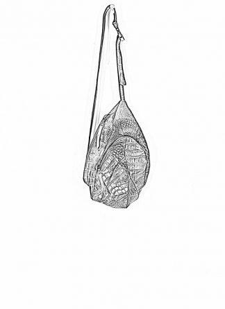 LEON EMANUEL BLANCK distortion dealer bag tasche DIS DB 01 M wild alligator leather black hide m 1