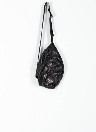 LEON EMANUEL BLANCK distortion dealer bag tasche DIS DB 01 M wild alligator leather black hide m 2