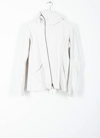 LEON EMANUEL BLANCK men distortion hooded jacket ss20 DIS M LJHO 01 herren jacke linen dirty white hide m 2