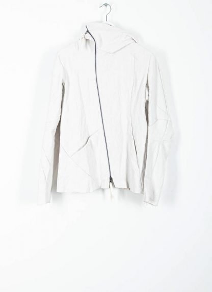 LEON EMANUEL BLANCK men distortion hooded jacket ss20 DIS M LJHO 01 herren jacke linen dirty white hide m 2