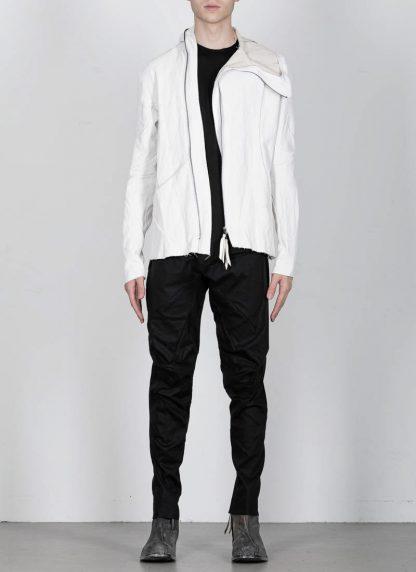 LEON EMANUEL BLANCK men distortion hooded jacket ss20 DIS M LJHO 01 herren jacke linen dirty white hide m 3