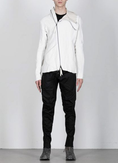LEON EMANUEL BLANCK men distortion hooded jacket ss20 DIS M LJHO 01 herren jacke linen dirty white hide m 4