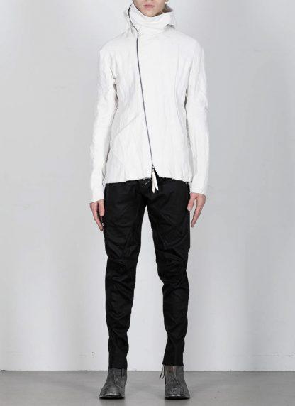 LEON EMANUEL BLANCK men distortion hooded jacket ss20 DIS M LJHO 01 herren jacke linen dirty white hide m 5