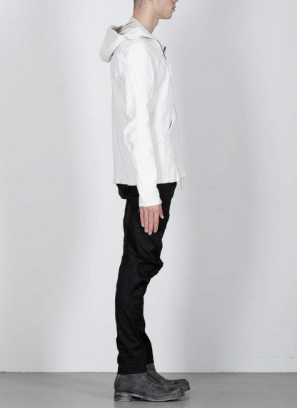 LEON EMANUEL BLANCK men distortion hooded jacket ss20 DIS M LJHO 01 herren jacke linen dirty white hide m 6