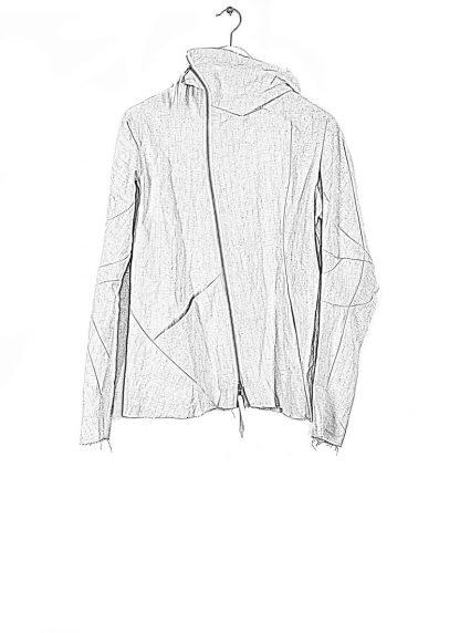 LEON EMANUEL BLANCK men distortion hooded jacket ss20 DIS M LJHO 01 herren jacke mit kapuze linen dirty white hide m 1