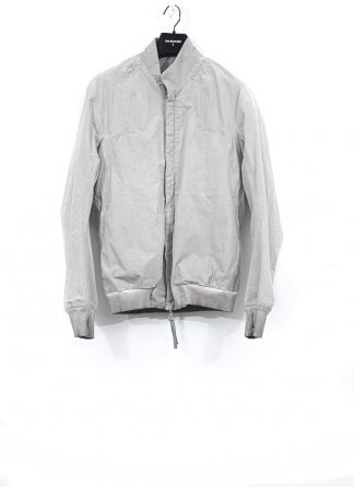 BORIS BIDJAN SABERI men J3 FLC10001 reversible bomber jacket tack stitch seam taped resin dyed herren jacke cotton light grey hide m 2