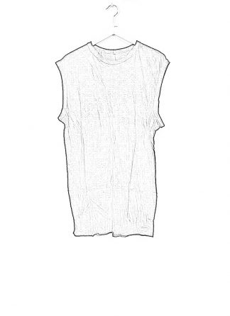 BORIS BIDJAN SABERI men ONE PIECE TANK TOP RF herren tshirt object dyed cotton cashmere FTT000001 black hide m 1