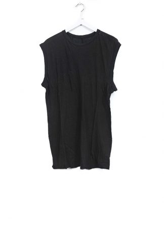 BORIS BIDJAN SABERI men ONE PIECE TANK TOP RF herren tshirt object dyed cotton cashmere FTT000001 black hide m 2