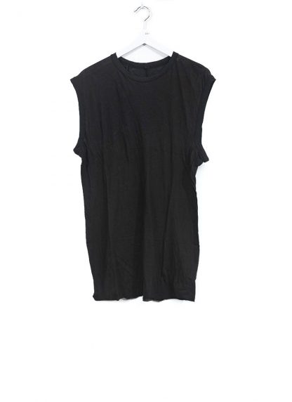 BORIS BIDJAN SABERI men ONE PIECE TANK TOP RF herren tshirt object dyed cotton cashmere FTT000001 black hide m 2