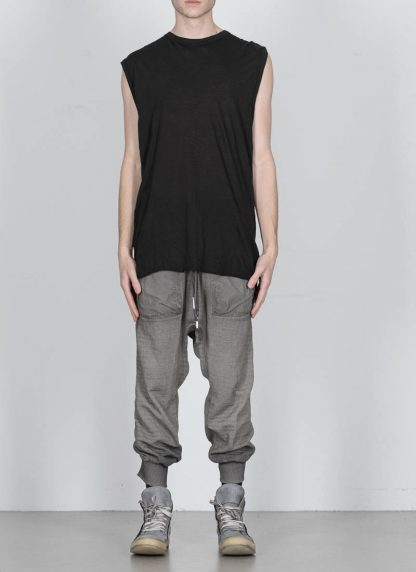 BORIS BIDJAN SABERI men ONE PIECE TANK TOP RF herren tshirt object dyed cotton cashmere FTT000001 black hide m 3