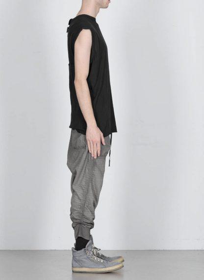BORIS BIDJAN SABERI men ONE PIECE TANK TOP RF herren tshirt object dyed cotton cashmere FTT000001 black hide m 4