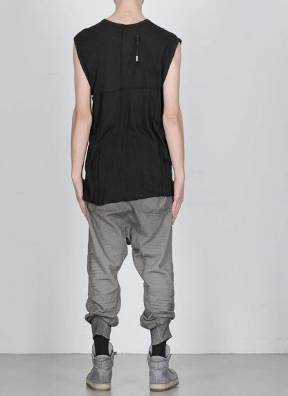 BORIS BIDJAN SABERI men ONE PIECE TANK TOP RF herren tshirt object dyed cotton cashmere FTT000001 black hide m 5