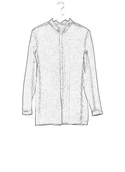 BORIS BIDJAN SABERI men SHIRT1 F1501M button down shirt herren hemd resin dyed cotton linen elastan dark grey hide m 1