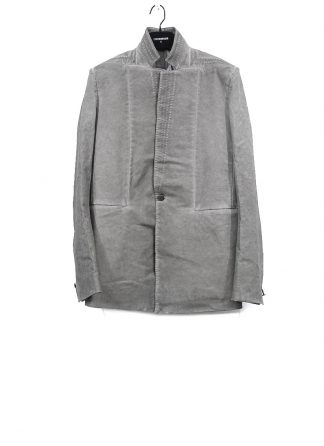 BORIS BIDJAN SABERI men SUIT1 FBT10005 blazer jacket resin dyed herren jacke cotton elastan light grey hide m 2