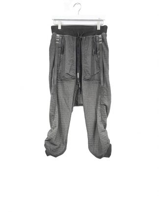 BORIS BIDJAN SABERI ss20 men P18 F0603M pants with adjustable strapes resin dyed herren hose jogger cotton faded dark grey hide m 2