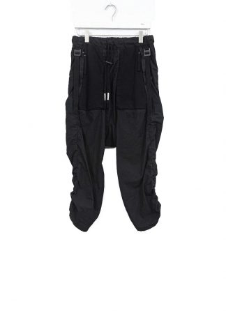 BORIS BIDJAN SABERI ss20 men P28 F1501M pants with adjustable strapes resin dyed herren hose jogger cotton black hide m 2