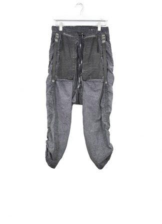 BORIS BIDJAN SABERI ss20 men P28 F1501M pants with adjustable strapes resin dyed herren hose jogger cotton faded dark grey hide m 2