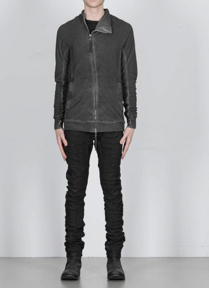 BORIS BIDJAN SABERI ss20 men zip jacket ZIPPER1 herren jacke resin dyed cotton F0503M dark grey hide m 4