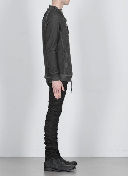 BORIS BIDJAN SABERI ss20 men zip jacket ZIPPER1 herren jacke resin dyed cotton F0503M dark grey hide m 5