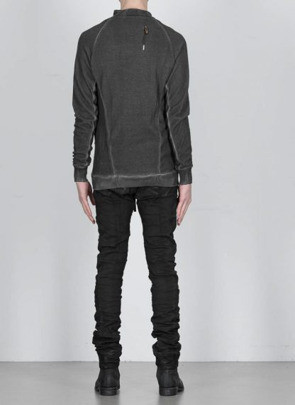 BORIS BIDJAN SABERI ss20 men zip jacket ZIPPER1 herren jacke resin dyed cotton F0503M dark grey hide m 6