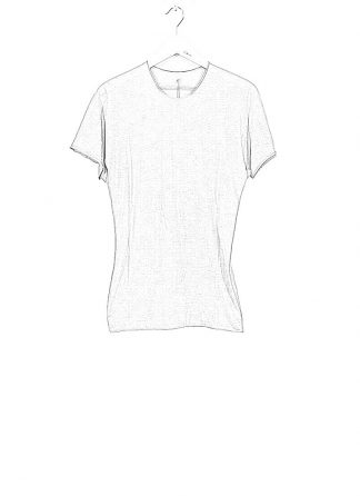 LABEL UNDER CONSTRUCTION ss20 men 35YMTS317 CO132 RG 35LG BK parabolic zip seam tee tshirt herren tee cotton light grey hide m 1