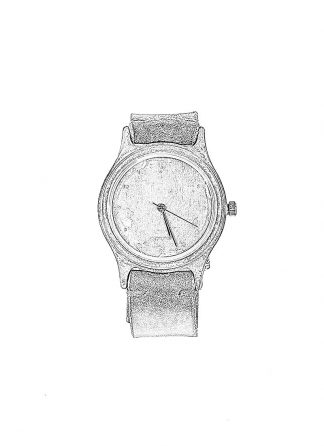 TAICHI MURAKAMI 12h self winding watch uhr 925 sterling silver horse cordovan leather strap black hide m 1