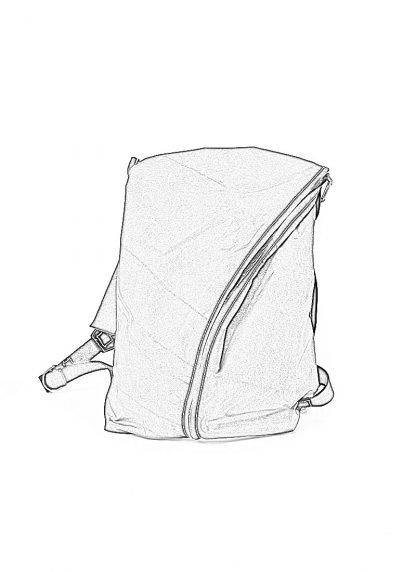 TAICHI MURAKAMI Backpack with Cotton Lining Rucksack bag tasche 3layer nylon waterproof black hide m 1