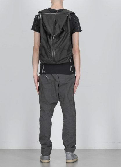 TAICHI MURAKAMI Backpack with Cotton Lining Rucksack bag tasche 3layer nylon waterproof black hide m 4