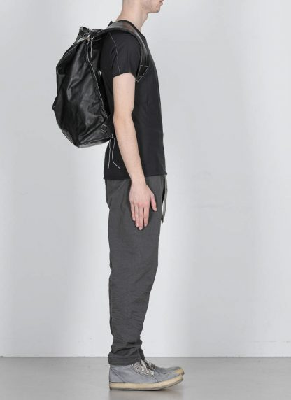TAICHI MURAKAMI Backpack with Cotton Lining Rucksack bag tasche horse culatta leather black hide m 4