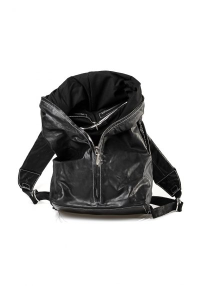 TAICHI MURAKAMI Backpack with Cotton Lining Rucksack bag tasche horse culatta leather black hide m 9