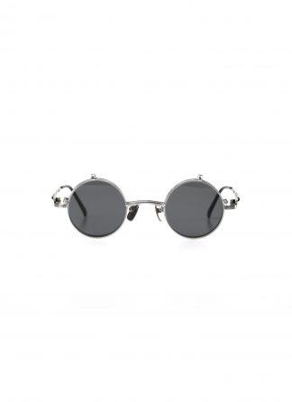 TAICHI MURAKAMI O Megane Flip glasses eyewear brille titan frame silver with dark grey lens hide m 2