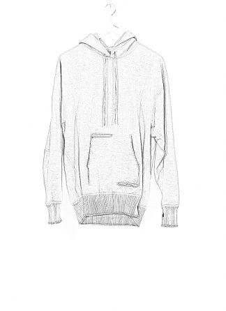 TAICHI MURAKAMI ss20 men Big Sweat Parka Knitted Sweater Herren Pulli unbalanced cotton jersey light grey hide m 1