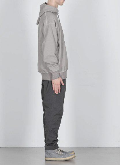 TAICHI MURAKAMI ss20 men Big Sweat Parka Knitted Sweater Herren Pulli unbalanced cotton jersey light grey hide m 4