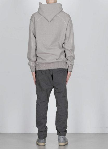 TAICHI MURAKAMI ss20 men Big Sweat Parka Knitted Sweater Herren Pulli unbalanced cotton jersey light grey hide m 5