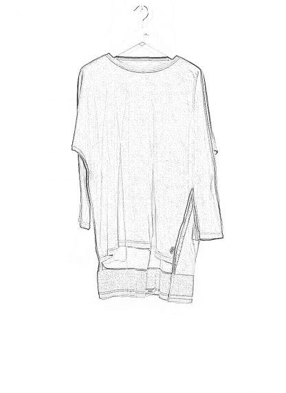 TAICHI MURAKAMI ss20 men Pattern Long Sleeve T Shirt knitted herren tee cotton dark grey hide m 1