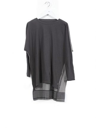 TAICHI MURAKAMI ss20 men Pattern Long Sleeve T Shirt knitted herren tee cotton dark grey hide m 2