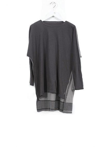 TAICHI MURAKAMI ss20 men Pattern Long Sleeve T Shirt knitted herren tee cotton dark grey hide m 2