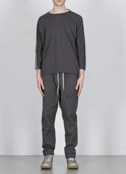 TAICHI MURAKAMI ss20 men Pattern Long Sleeve T Shirt knitted herren tee cotton dark grey hide m 3