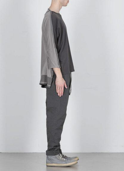 TAICHI MURAKAMI ss20 men Pattern Long Sleeve T Shirt knitted herren tee cotton dark grey hide m 4