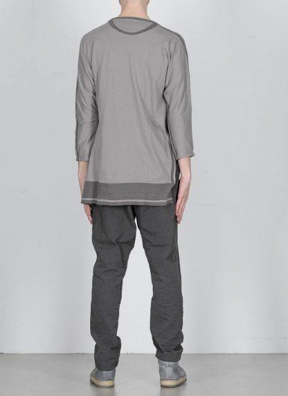 TAICHI MURAKAMI ss20 men Pattern Long Sleeve T Shirt knitted herren tee cotton dark grey hide m 5