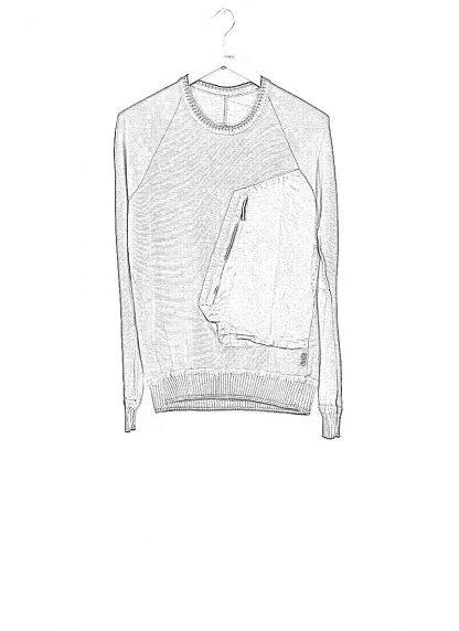 TAICHI MURAKAMI ss20 men Pocket Sweater Knitted herren pulli rachel cotton ramie steel khaki hide m 1