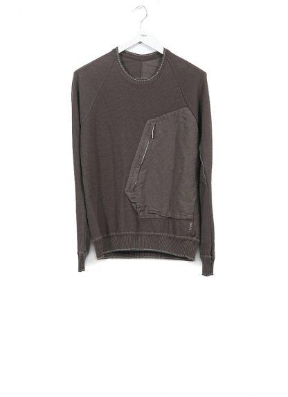 TAICHI MURAKAMI ss20 men Pocket Sweater Knitted herren pulli rachel cotton ramie steel khaki hide m 2