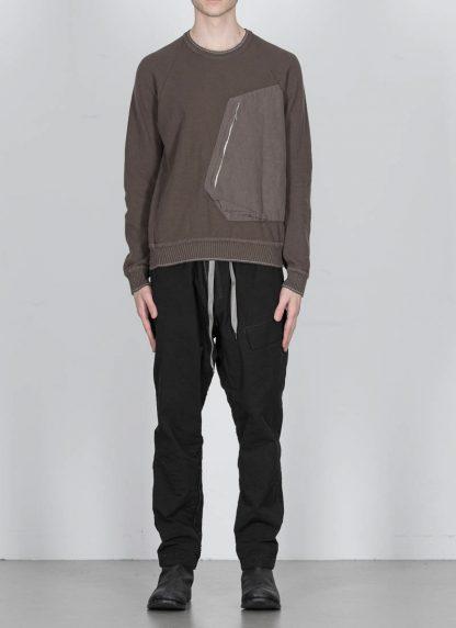 TAICHI MURAKAMI ss20 men Pocket Sweater Knitted herren pulli rachel cotton ramie steel khaki hide m 3