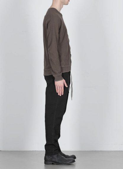 TAICHI MURAKAMI ss20 men Pocket Sweater Knitted herren pulli rachel cotton ramie steel khaki hide m 4