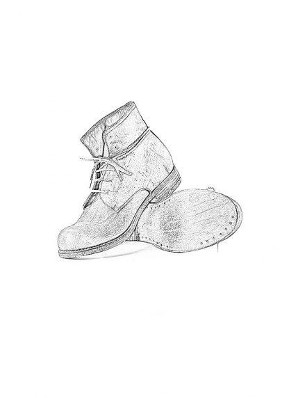 ADICIANNOVEVENTITRE A1923 AUGUSTA men FM1 handmade goodyear ankle boot herren schuh kudu leather grey hide m 1