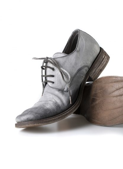 ADICIANNOVEVENTITRE A1923 AUGUSTA men SS6 handmade goodyear shoe derby herren schuh kangaroo leather grey hide m 5