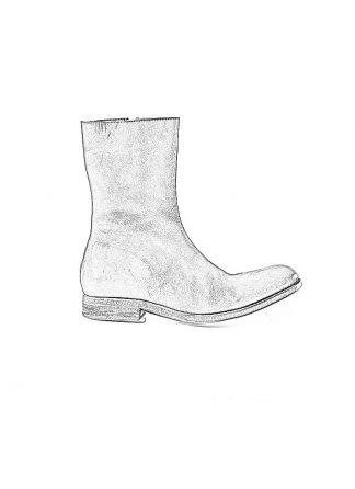 ADICIANNOVEVENTITRE A1923 AUGUSTA men ST9 handmade goodyear side zip boot herren schuh stiefel kudu leather black hide m 1