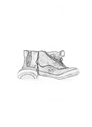 ADICIANNOVEVENTITRE A1923 AUGUSTA women SSN7 handmade front zip sneaker shoe damen schuh horse leather black hide m 1