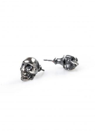 CHIN TEO earrings ohrring ohrstecker stecker oxidised skull totenkopf skulls jewelry jewellery schmuck sterling silver 925 hide m 1